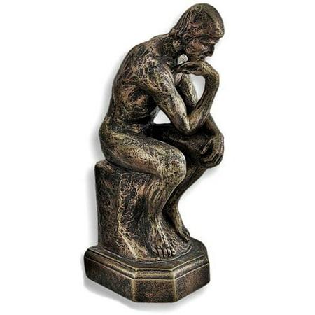Rodin the Thinker Statue Fine Art Sculpture Male Nude Figure Real Bronze (Art Reproduction Sculpture)