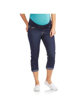 Oh! Mamma Maternity Underbelly Roll-Cuff Capri - Available in Plus Sizes