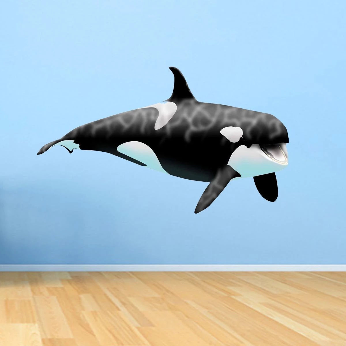 Vwaq Giant Orca Whale Wall Decal Peel And Stick Killer Whale Ocean Wall Art 30 H X 50 W Walmart Com Walmart Com