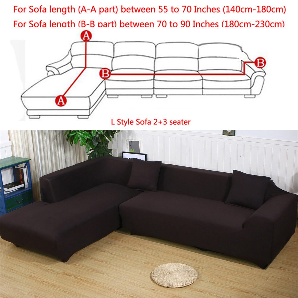 All Cover Sectional Sofa L Shape, 2pcs Slipcover Elastic Washable Couch  Cover, 2seater (55 To 74Inch)+3 Seater(74 To 90 Inch) Sofa Slipcover Couch  Cover ...