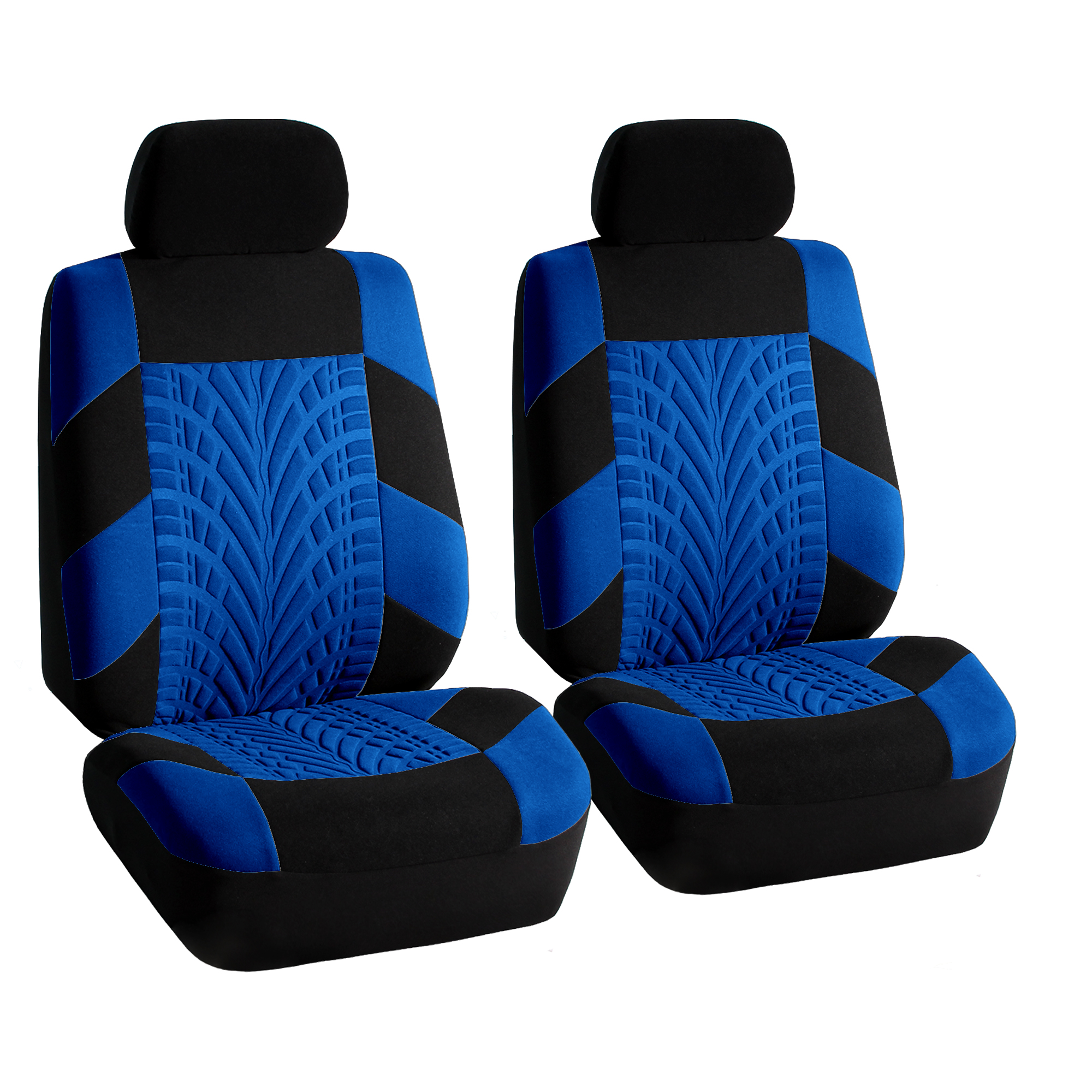 FH Group Travel Master Side Airbag Compatible Car Seat Coverswith Split Bench Function Full Set Blue And Black