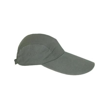 Split Bill Cap - Size one size Cotton Long 5 Inch Bill Visor Baseball Cap