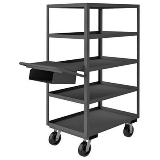 Durham Mfg Opcpfs 243665 5 6ph 95 14 Ga Steel Order Picking Cart 3600 Lb Capacity 52 3 8 Quot L X 24 1 4 Quot W X 65 Quot H Walmart Com Walmart Com