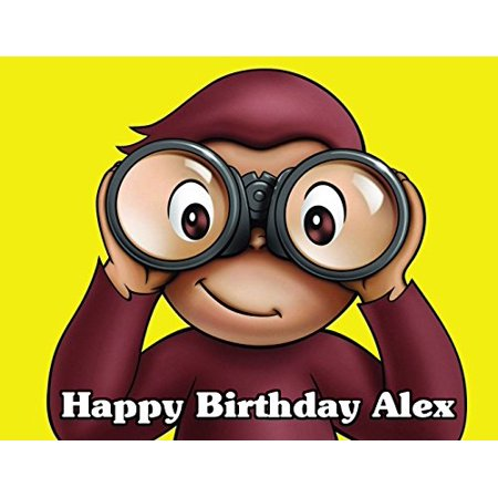 Curious George Edible Image Photo Cake Topper Sheet Personalized Custom Customized Birthday - 1/4 Sheet - 78042 Curious George Cake Decoration