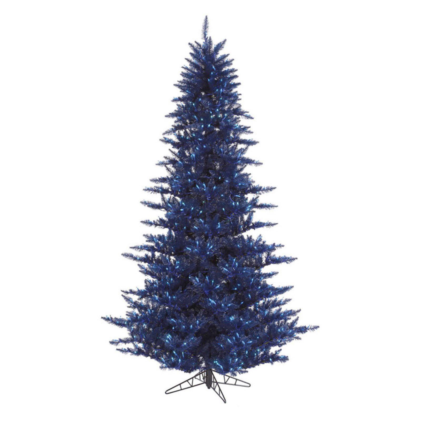 Vickerman Dark Blue Fir Pre-lit Christmas Tree