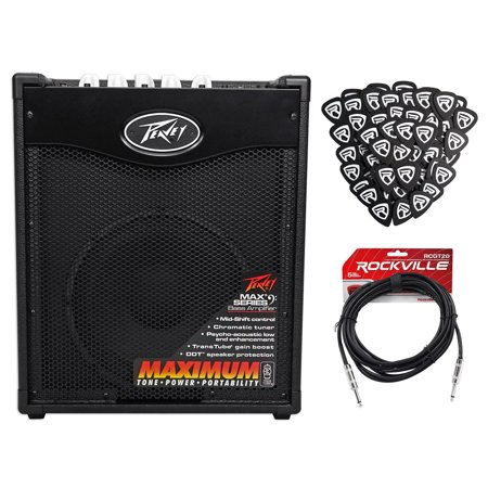 "Peavey Max 110 Electric Bass Guitar Amplifier Combo Amp+10"" Speaker+Cable+Picks"