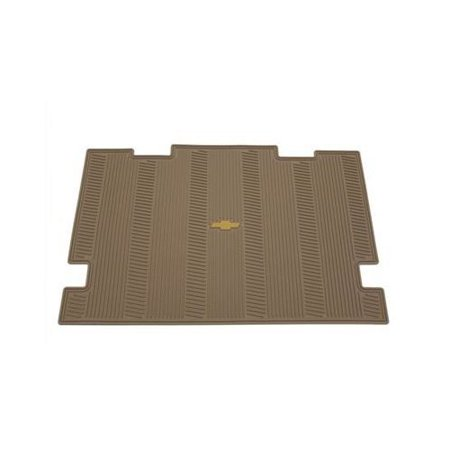 GM # 19166808 Floor Mats - Rear Cargo Area Premium All Weather Set - Cashmere with Chevy Bowtie Logo, Mat Package By General Motors Cargo Area Cover Set