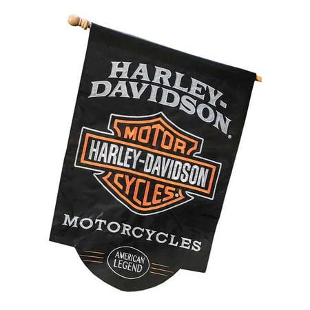 Harley-Davidson American Legend Sculpted Applique House Flag, 28 x 44 in 154900, Harley Davidson Applique House Banner Flag
