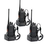 UBesGoo 3 Pcs Baofeng BF-888S UHF 400-470Mhz Handheld Walkie Talkie Radios 888S Headsets