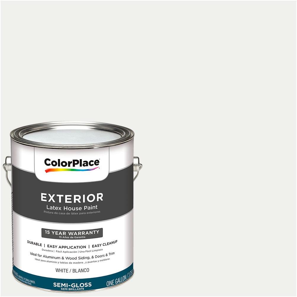 ColorPlace Exterior White Semi-Gloss Paint 1 Gallon