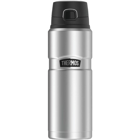 Box No Thermos - Thermos SK4000STTRI4 Stainless King Vacuum-Insulated Drink Bottle, 24 oz, Silver