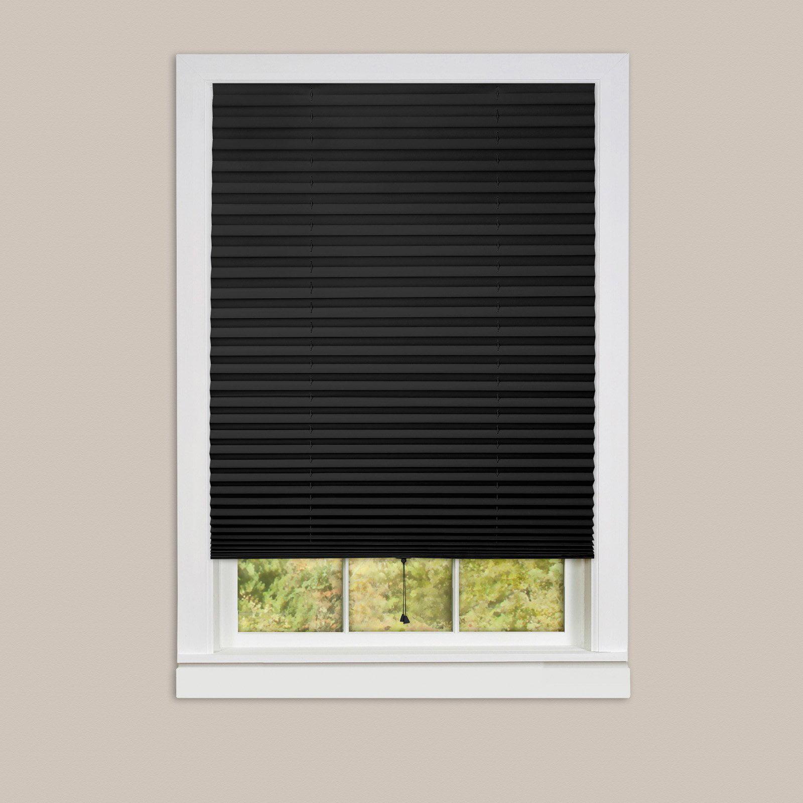 1-2-3 Vinyl Room Darkening Temporary Pleated Window Shade