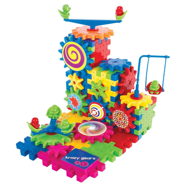 Krazy Gears Gear Building Toy Set Interlocking Learning Blocks Motorized Spinning Gears 81... by Krazy Gears
