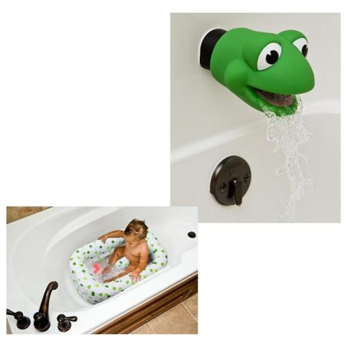 Mommy's Helper Inflatable Bath Tub with Spout Cover