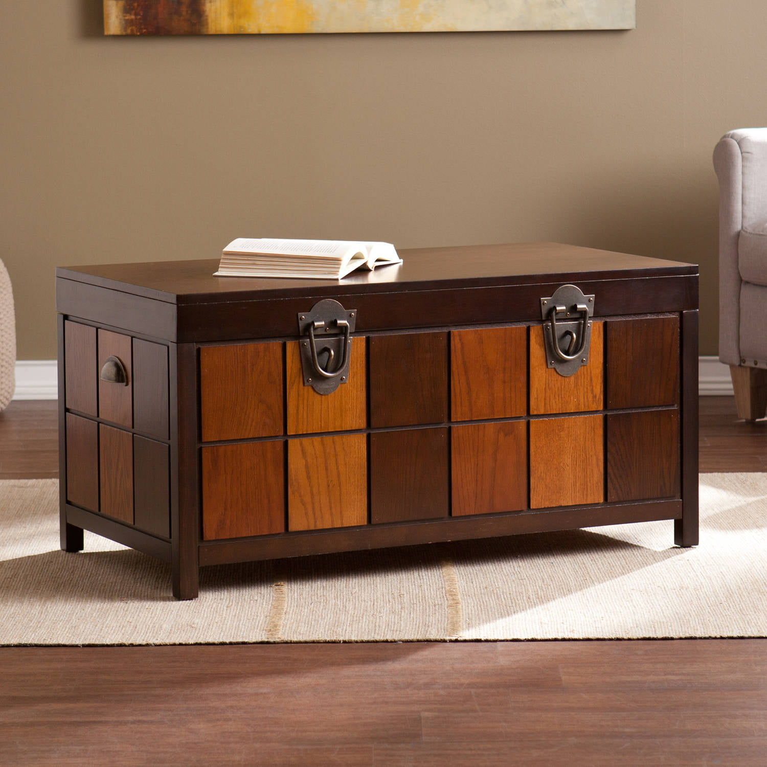 Southern Enterprises Hartford Trunk Cocktail Table, Multi-Tonal by Southern Enterprises