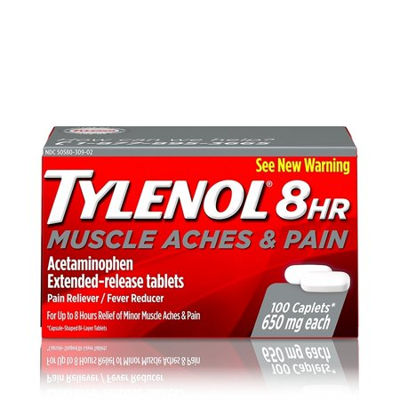 Tylenol 8 HR Muscle Aches & Pains, 100 Count