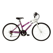 Titan Wildcat 18-Speed Women's Mountain Bike, Lavender & White