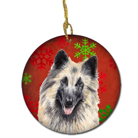Belgian Tervuren Red Snowflakes Holiday Christmas Ceramic (Tervuren Ornaments)