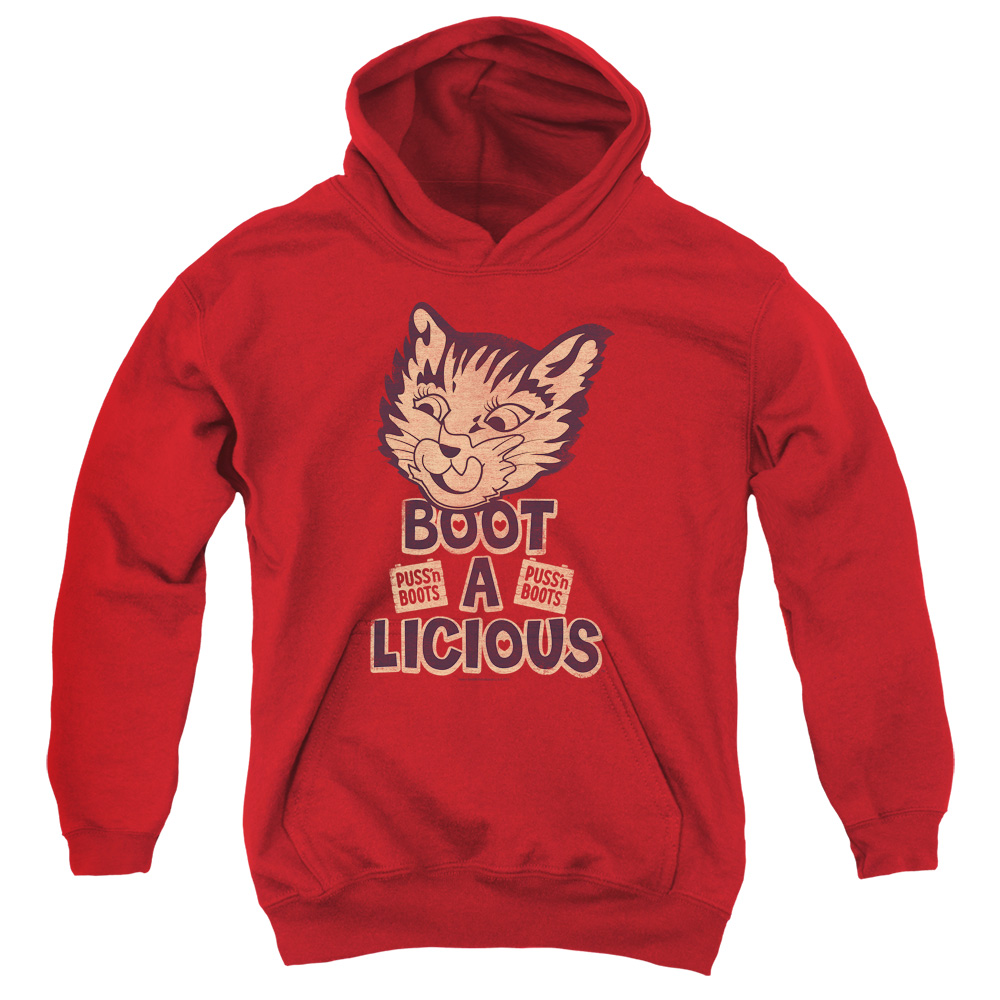 Puss N Boots Boot A Licious Big Boys Pullover Hoodie