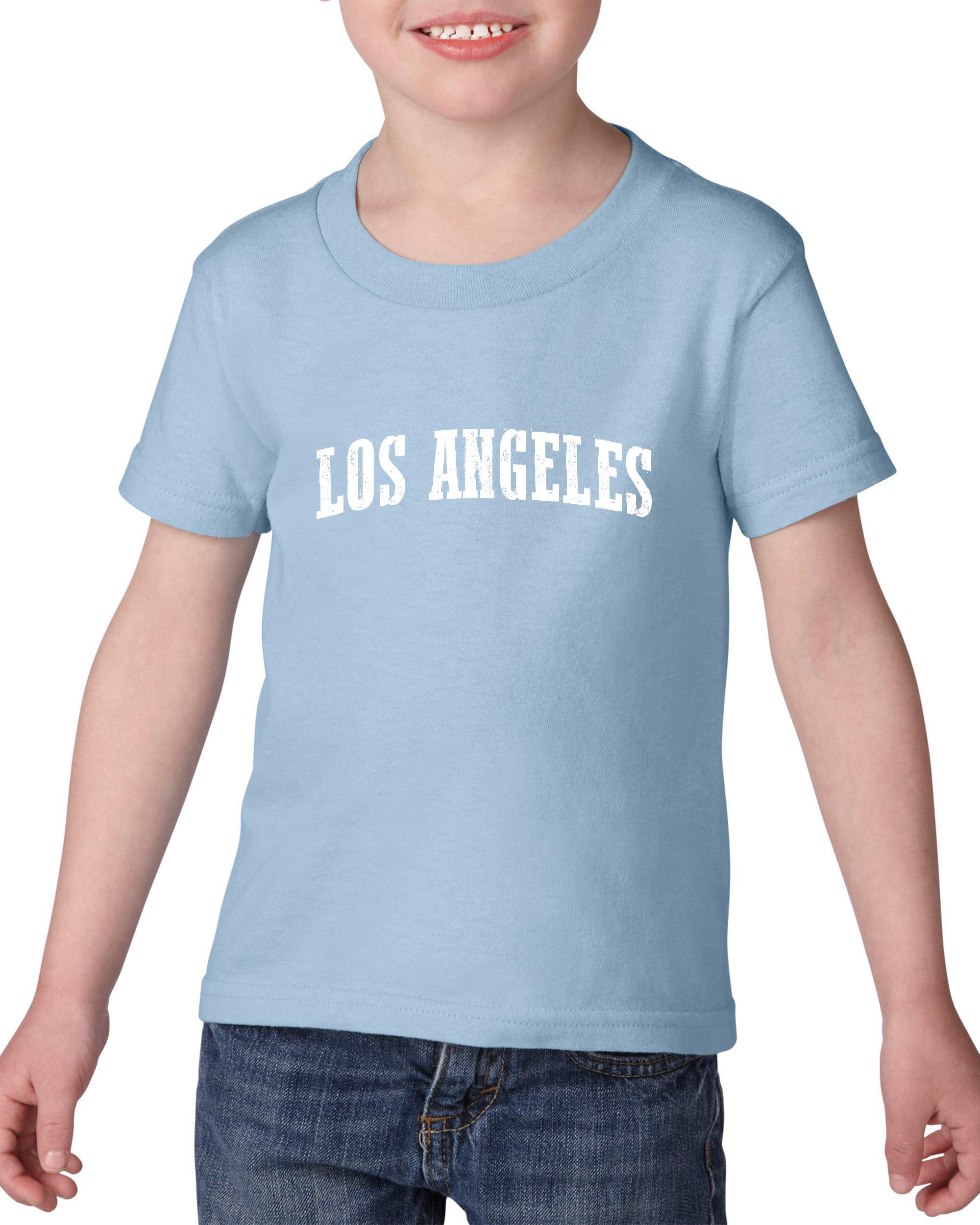 Artix Los Angeles CA California Map Flag Home of University of UCLA USC CSLA Heavy Cotton Toddler Kids T-Shirt Tee Clothing