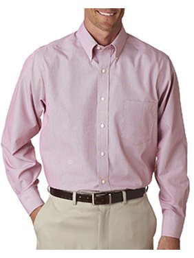 9e9467ca787 Product Image Van Heusen Men s Long-Sleeve Non-Iron Feather Stripe - RED  STRIPE - S