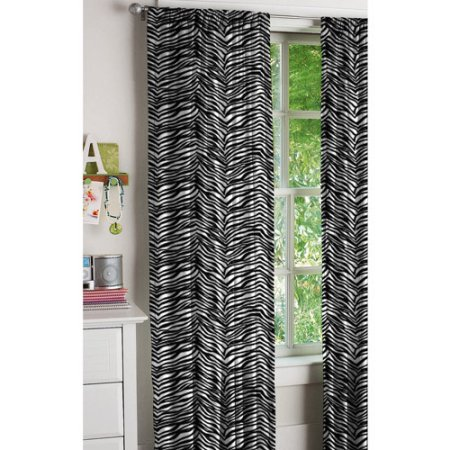 Your Zone Zebra Curtains, Set of 2