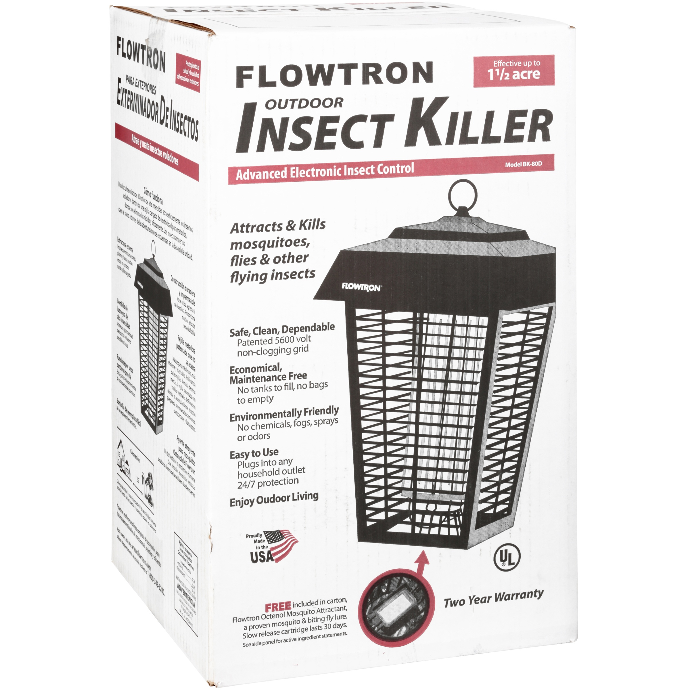 Flowtron Electric Insect Killer 15 Acres Mosquito Circuit Is Composed Of The Energy Saving Lamp