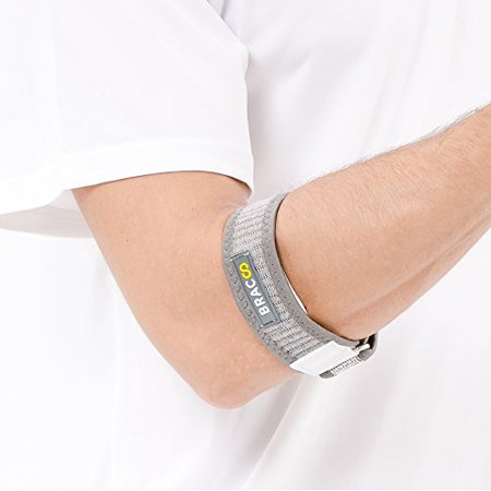 - Tennis Golf Elbow Strap - Protection for Medial & Lateral Forearm Muscle Gray