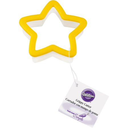 (4 Pack) Wilton Star Grippy Plastic Cookie Cutter ()