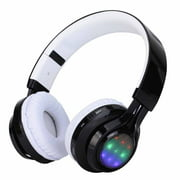 Bluetooth Headphones, Folding Stereo Wireless Bluetooth Headphones Over Ear with Microphone and Volume Control, Wireless and Wired Headset for PC/Cell Phones/TV