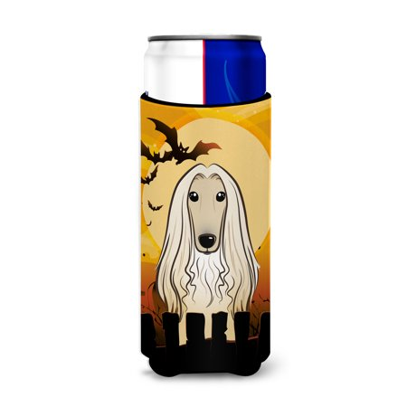Halloween Afghan Hound Ultra Beverage Insulators for slim cans BB1802MUK](Halloween Names For Beverages)