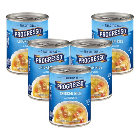 (5 Pack) Progresso Soup Chicken Rice with Vegetables Soup Gluten Free 19 -