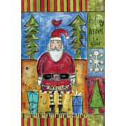 """Well Street by Lang """"Holiday Wishes"""" Mini Garden Flag, 12"""" x 18"""""""