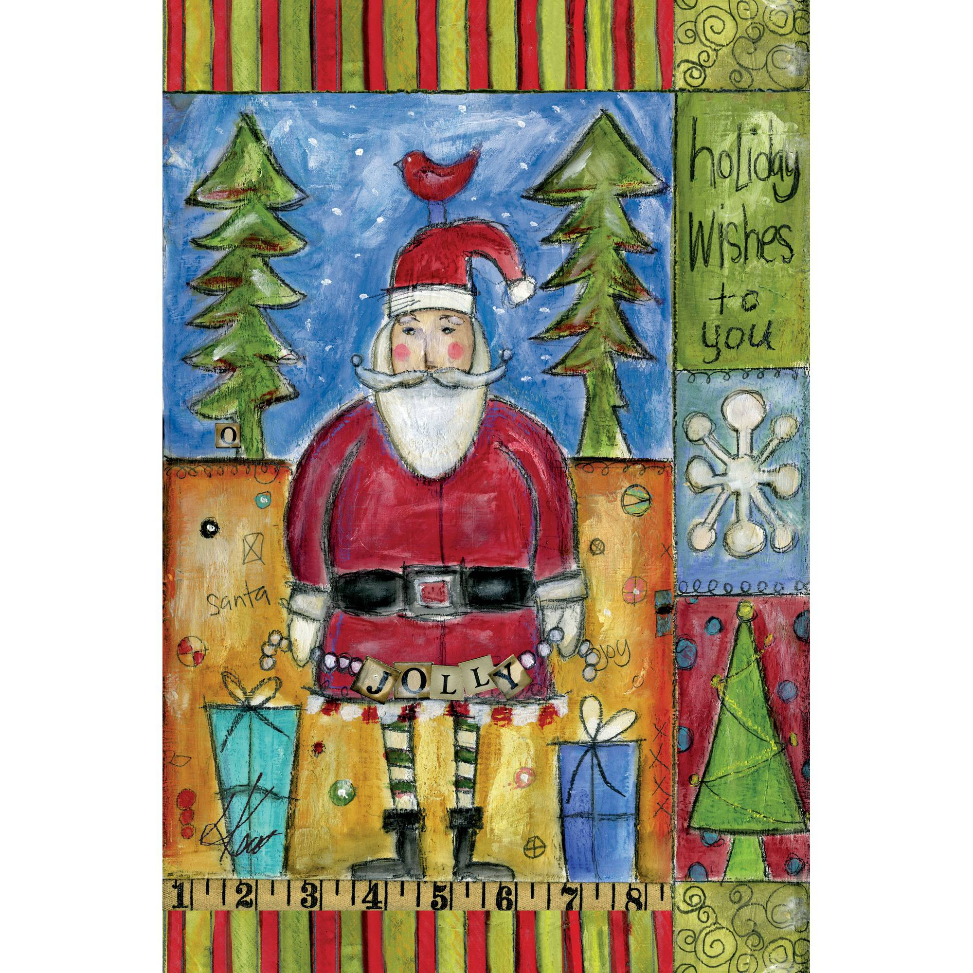"Well Street by Lang ""Holiday Wishes"" Mini Garden Flag, 12"" x 18"""