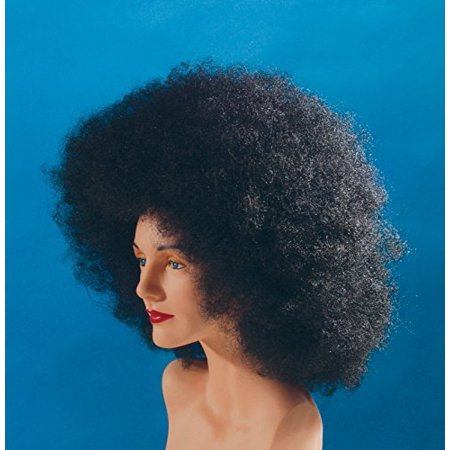 Star Power Afro Adult Unisex Halloween Wig Black One Size - Beehive Wig Black