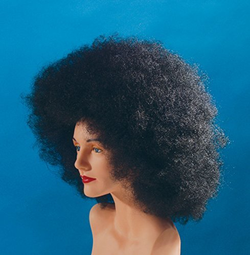 Star Power Afro Adult Unisex Halloween Wig Black One Size