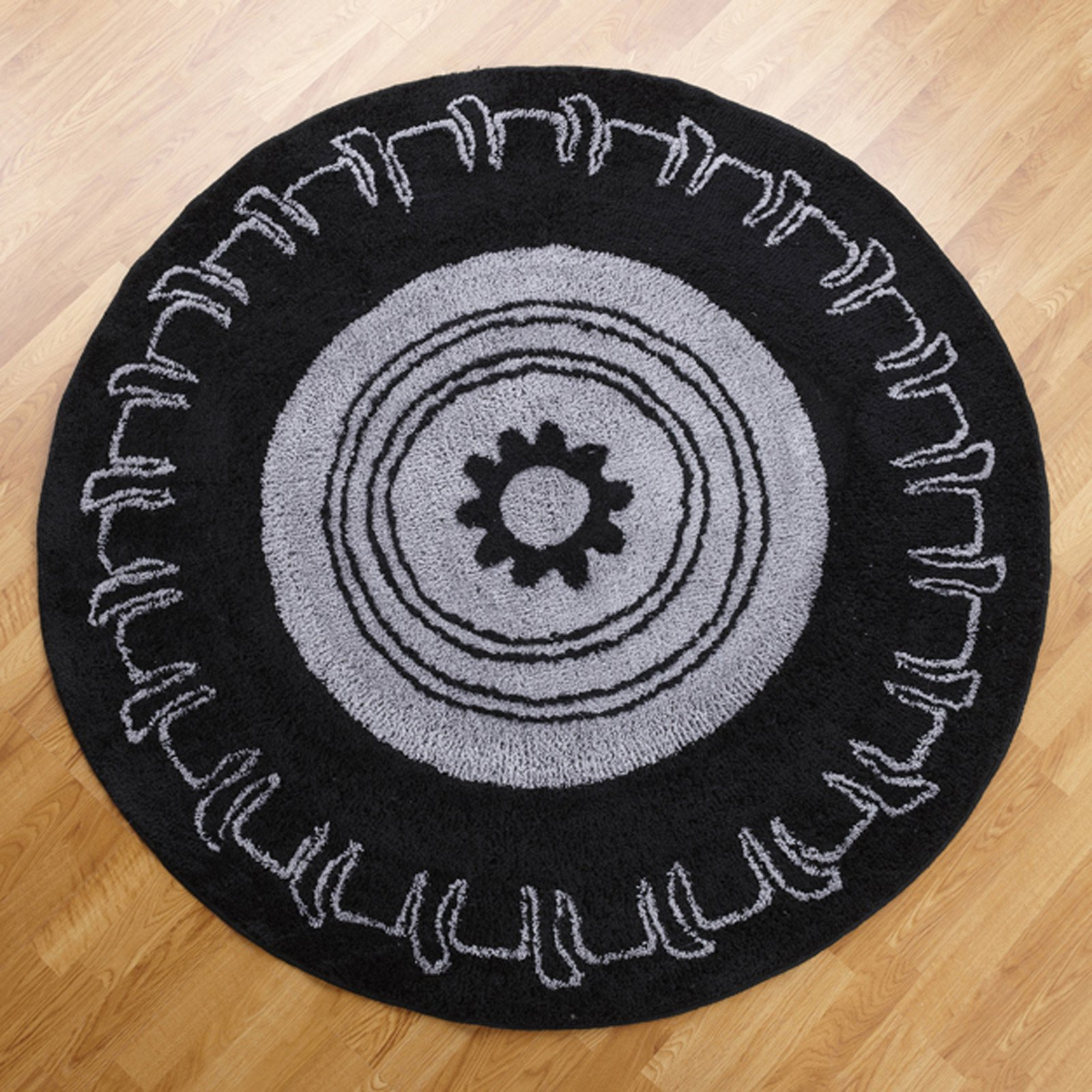 Teyo's Tires 5 ft. Round Rug