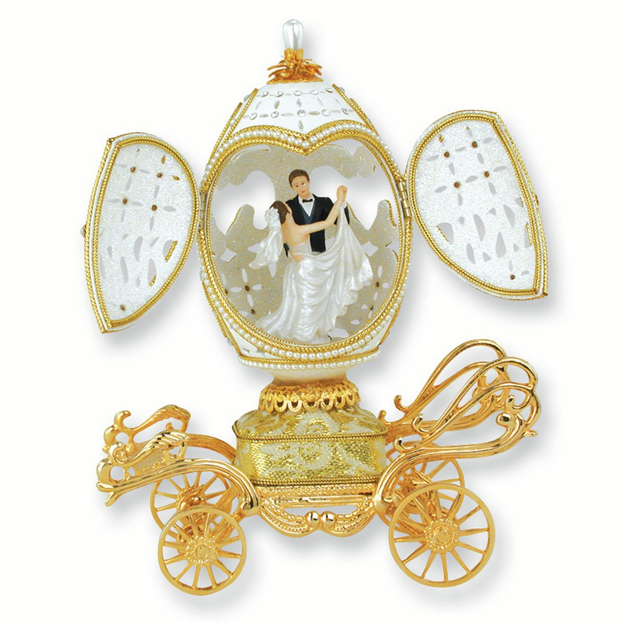 Bride Groom Musical Goose Egg Figurine Gifts For Women For Her
