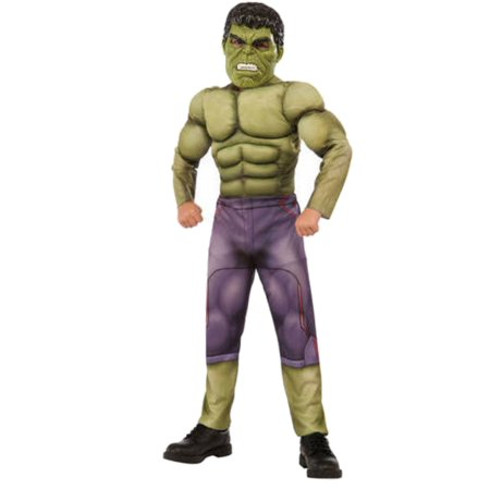 Incredible Hulk Suit (Boys Marvel Avengers Incredible Hulk Muscle Halloween)