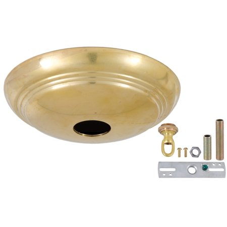 Spoon Lamp (B&P Lamp Unfinished Brass Solid Spun Brass Ribbed Canopy)