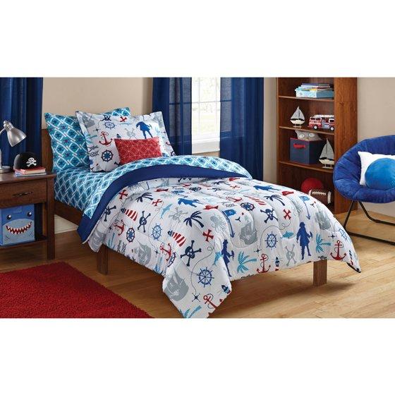 Mainstays Kids Pirate Bed In A Bag Bedding Set Walmart Com