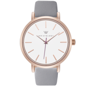 Olivia line Rose gold womens watch with 18mm grey genuine leather interchanageable watch band OC055