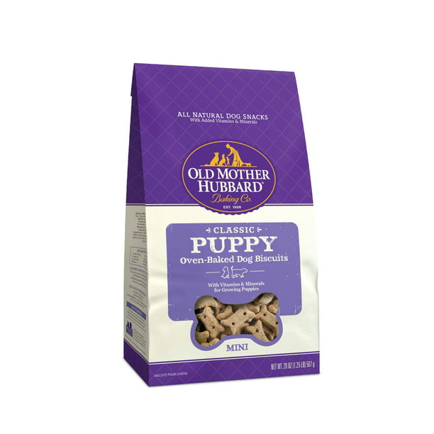 Old Mother Hubbard Classic Puppy Biscuits Baked Dog Treats, Mini, 20 Ounce Bag
