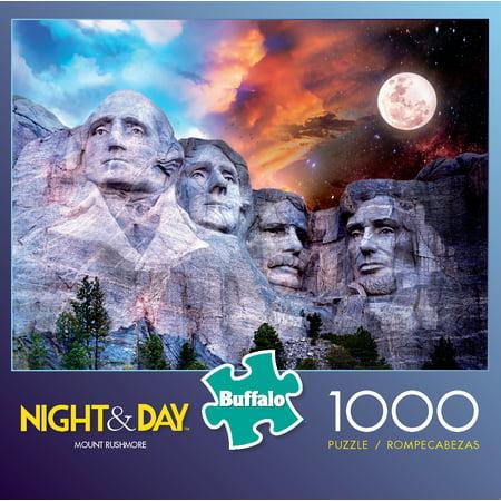 Buffalo Games - Night & Day Series - Mount Rushmore - 1000 Piece Jigsaw Puzzle ()