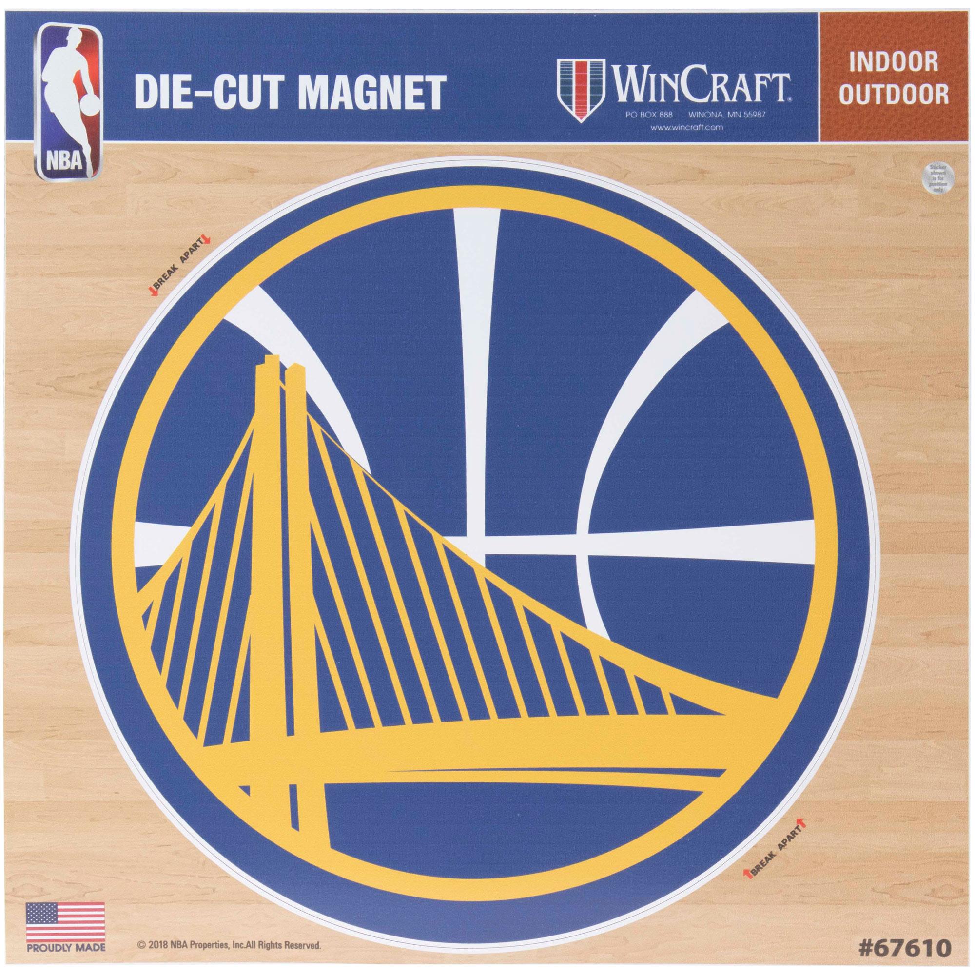 "Golden State Warriors 12"" x 12"" Car Magnet - No Size"