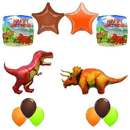 Prehistoric Giant T-REX and Triceratops Birthday Dinosaur Balloon Decoration ...](Dinosaurs Balloons)