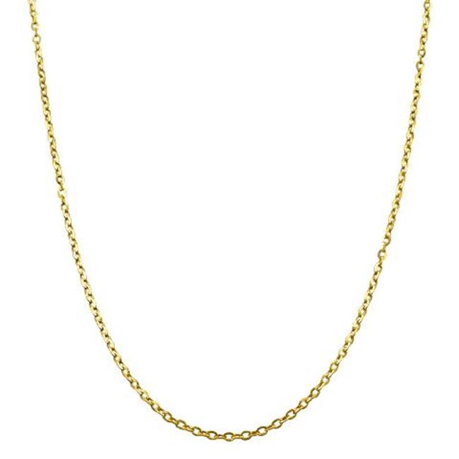 Princess 10K Yellow Gold Cable Chain, 16 inch