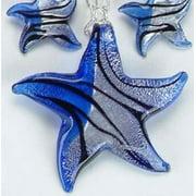 KA-1964 18-21 in. Starfish Sapphire Necklace