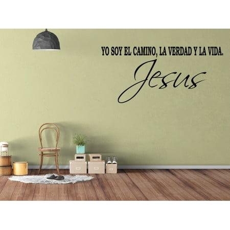 Vinilo Decorativo Para Pared Yo Soy El Camino La Verdad Y La Vida Jesus SQ30](Articulos Decorativos Para Halloween)