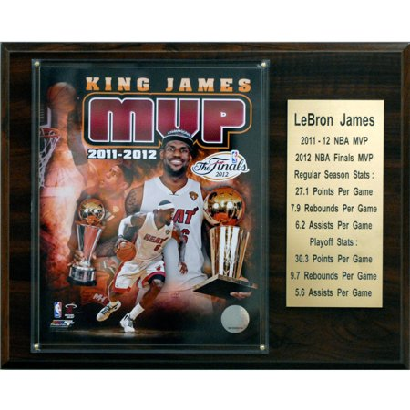 C&I Collectables NBA 12x15 LeBron James Miami Heat 2011-12 MVP (Lebron James 2012 Finals Mvp Miami Heat Champions)
